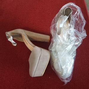 Brand new beige heels never worn 8.5